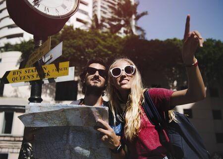 Paar reisen zusammen wanderlust Reise Standard-Bild