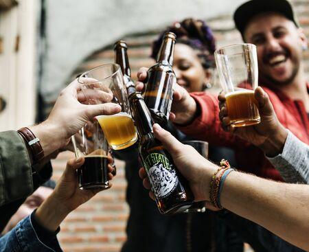 Craft Beer Booze Brew Alkohol Feiern Erfrischung Standard-Bild