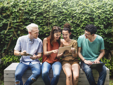 Amigos Lifestyle Jovens social Adolescentes Conceito