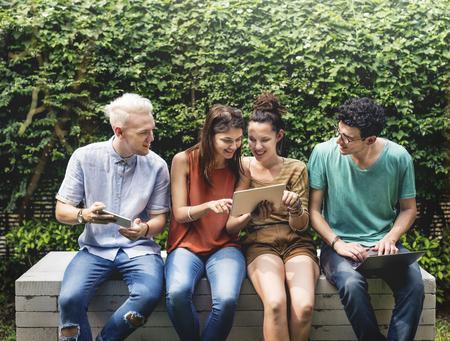 Freunde Lifestyle Social Junge Teens Konzept