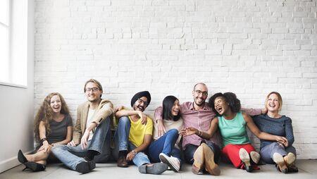 A group of cheerful friends Standard-Bild