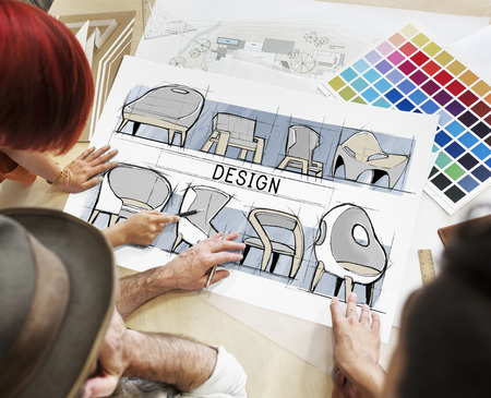 Architects working in a design studio