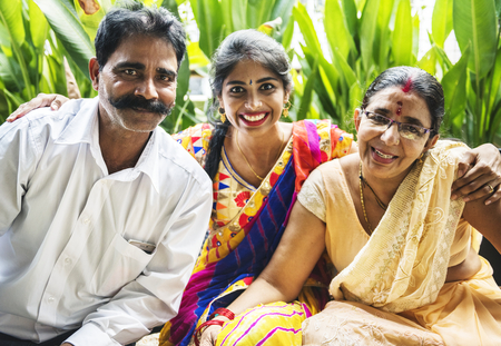 A happy Indian family Standard-Bild