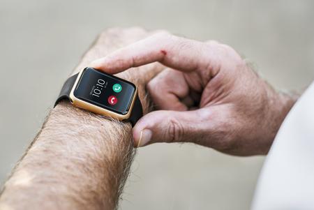 Closeup of smartwatch