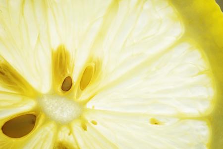 カットレモンのマクロショット