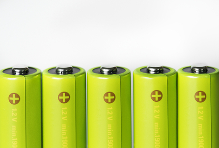Closeup of battery