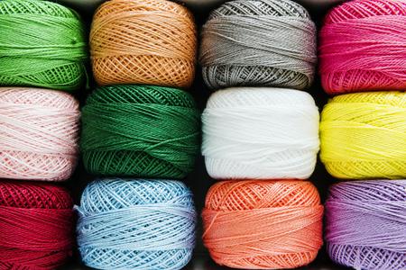 Sewing threads closeup multicolored 版權商用圖片