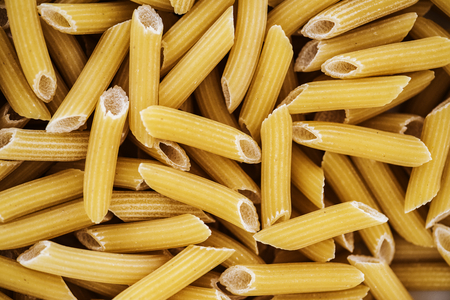Close up of penne pasta 写真素材