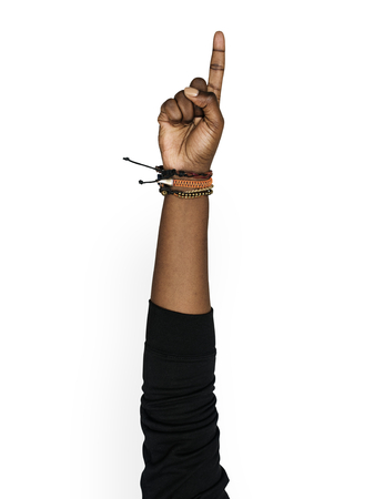 Hand met variatie van object Stockfoto - 94660063