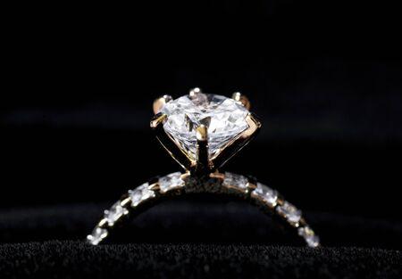 Closeup of diamond ring