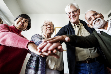 Group of senior friends support concept Archivio Fotografico