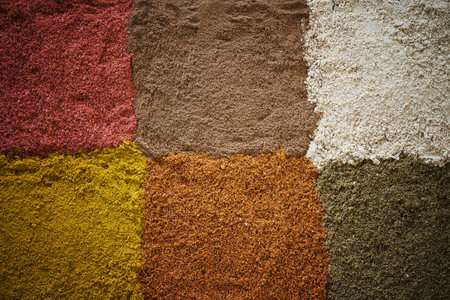 Closeup of mixed spice powder