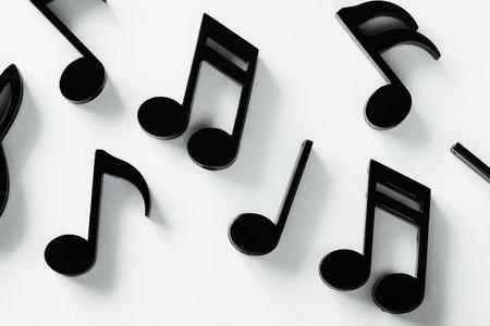 Closeup of music note