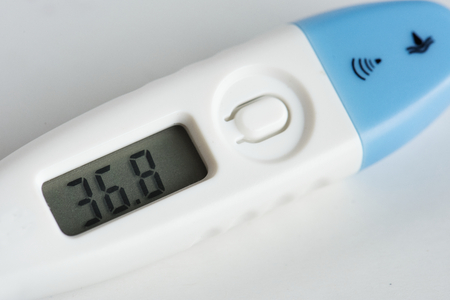 Closeup of digital thermometer