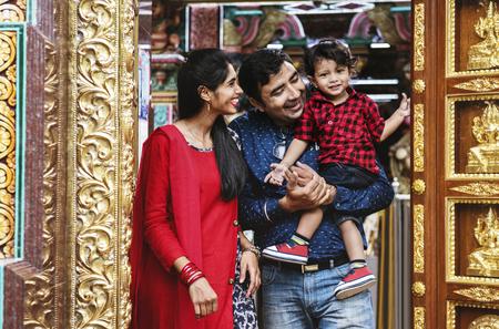 Indian family spendingt time together