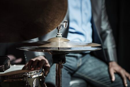 Drummer performing in an event Stok Fotoğraf