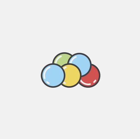 Illustration of balloons icon