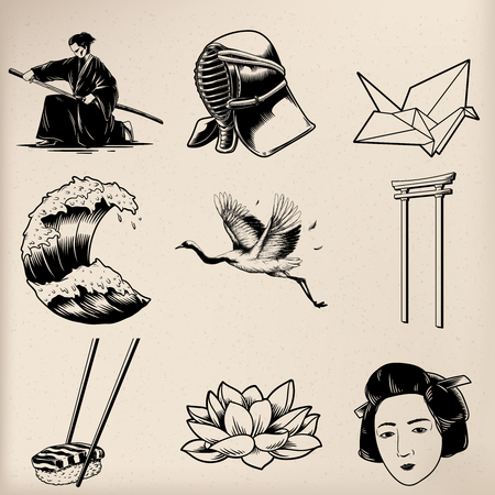 Japanese tradition style drawings
