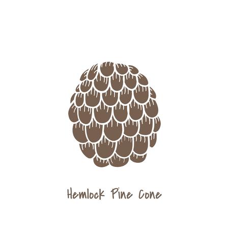 Hemlock pine cone concept