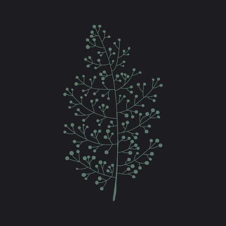 Leaf illustration concept