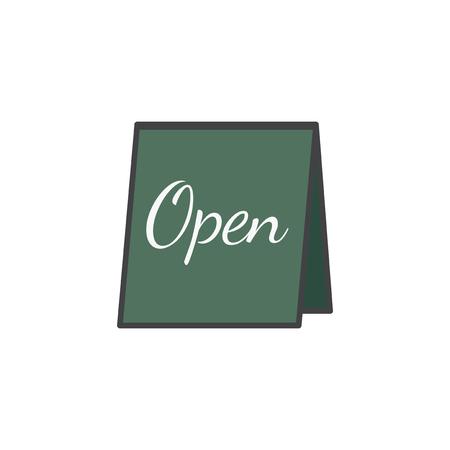 Illustration of open sign