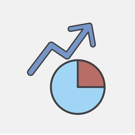 Illustration of growth graph icon