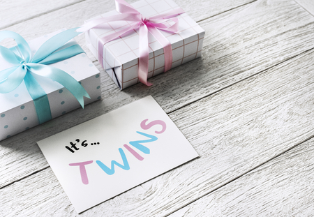 Gift for twins concept