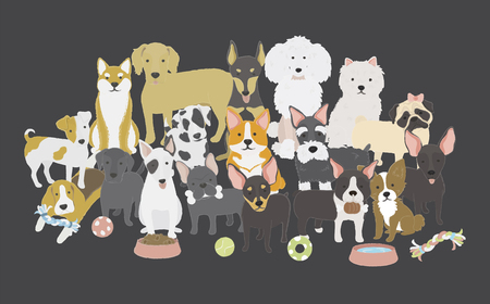 Illustration of dogs