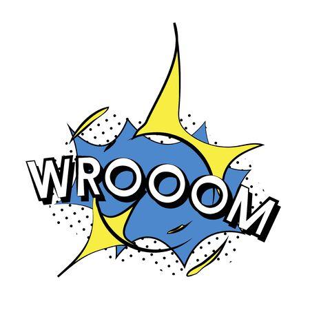 Wroom explosion vector 스톡 콘텐츠