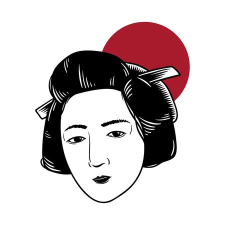 Japanese tradition style vectors Banco de Imagens
