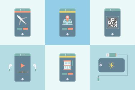 Smartphone apps concept Stockfoto