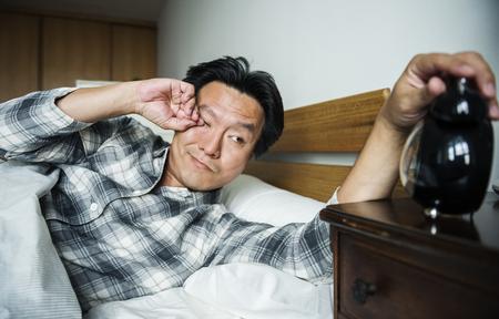 A man sleeping soundly
