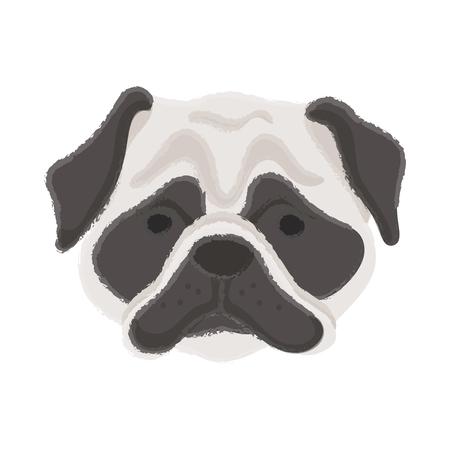 Dog illustration concept