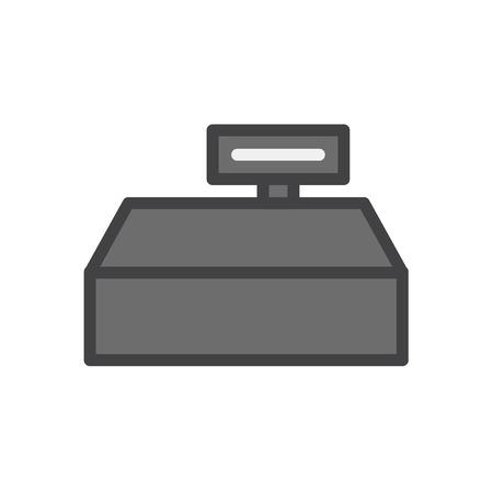 Illustration of cashier machine icon Imagens