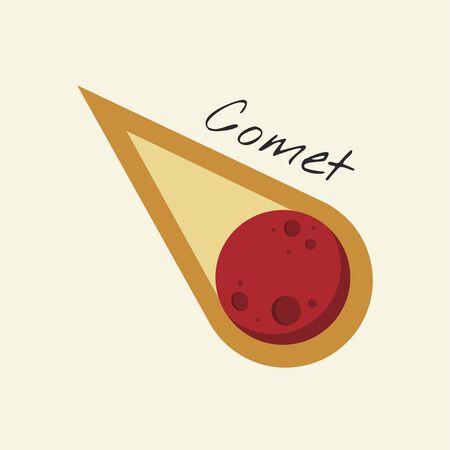 Vector of comet Stock Photo