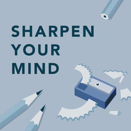Sharpen your mind illustration