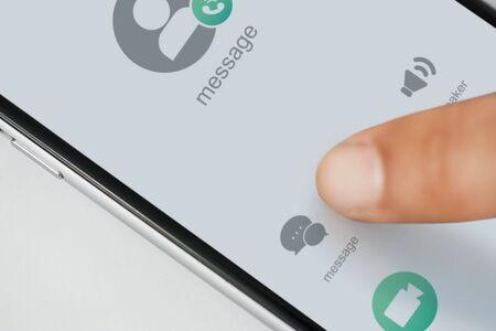 Closeup of mobile phone 写真素材