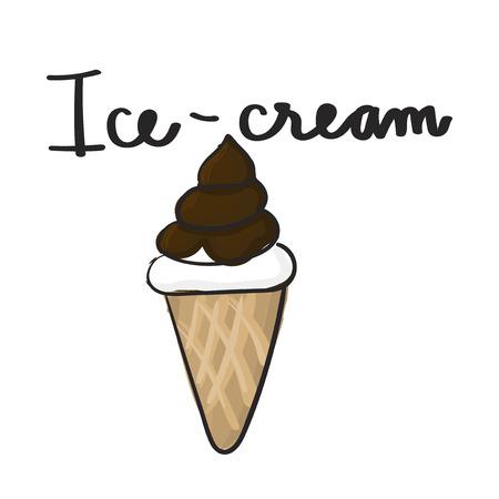 Illustration drawing style of ice cream Stock Photo