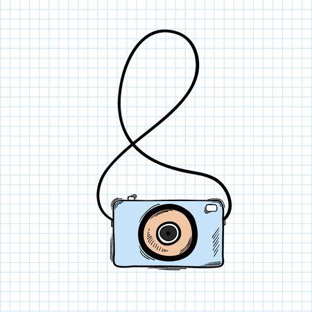 Illustration of camera isolated on background