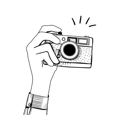 Vector of vintage camera 版權商用圖片 - 95112506