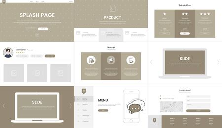 Vector of website elements for web design Imagens