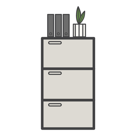 Illustration du tiroir de documents Banque d'images - 95112573