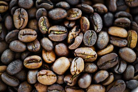 Closeup of coffee bean Stock Photo