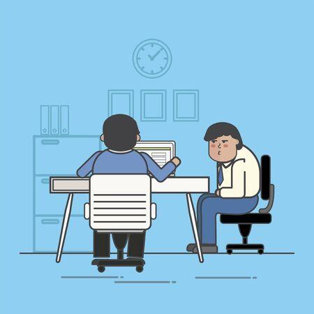 Illustration of business people avatar Stok Fotoğraf