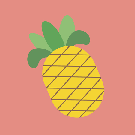 Illustration of pineapple Stock Photo