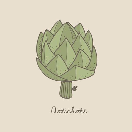 Vector de una alcachofa Foto de archivo - 95113026