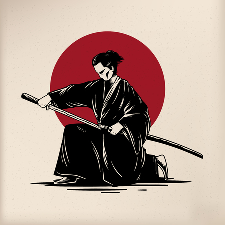 Japanese tradition style vectors Banque d'images