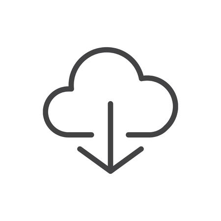 Illustration of cloud storage Stock Photo