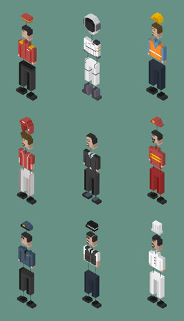 Vector set of men and professions Stock Photo