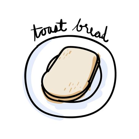 Illustration drawing style of bread